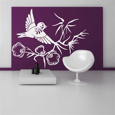 flower wall stickers uk wallstickers folies flower bird asia wall stickers