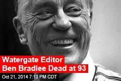 ben bradlee dead legendary washington post editor led watergate news stories about watergate page 1 newser