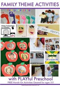 Plan your family theme preschool activities with these ideas from the