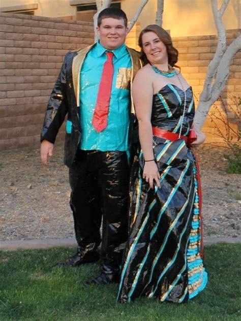 stuck  prom duct tape attire scholarships duct tape