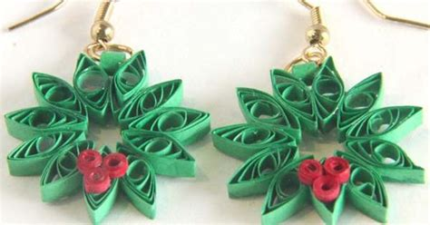 quilling earrings tutorial dailymotion paper quilling christmas wreath earrings gift tags and