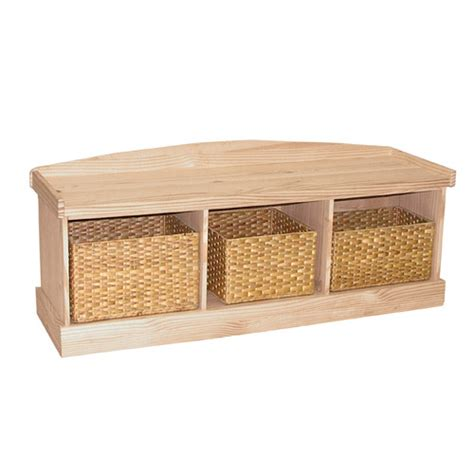 unfinished wood storage bench entry storage bench generations home furnishings