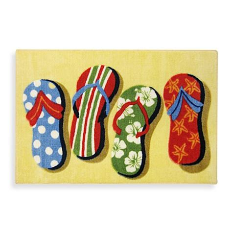 flip flop rugs flip flop accent rug bed bath beyond