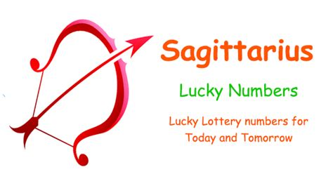 sagittarius lucky lottery numbers today and tomorrow