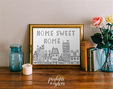 quote wall printable home sweet home print wall decor