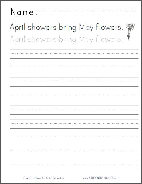 April Showers Bring May Flowers Poem by April Showers Bring May Flowers Poem