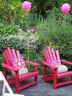Arondyke Chairs by I M Loving The Girly Update To These Adirondack Chairs
