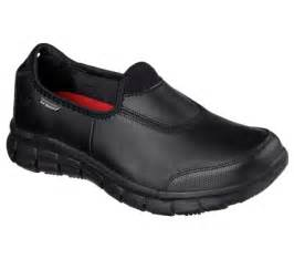 non slip work shoes for work relaxed fit sure track non slip sole shoes skechers
