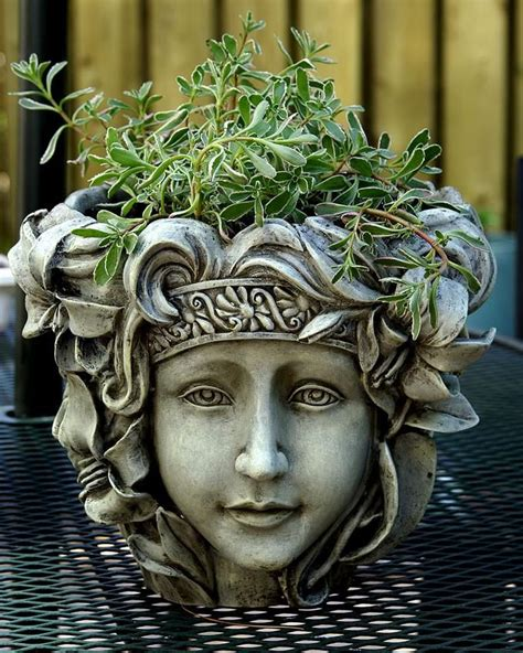 flower pots with faces on them 17 best images about head planters on pinterest gardens