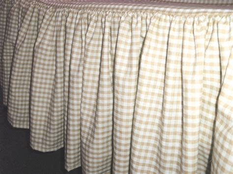 gingham bed skirt beige tan gingham check bedskirt in all sizes from twin
