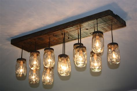 Dining Room Light Fixtures Lowes by The Coming Home Custom Mason Jar Chandelier