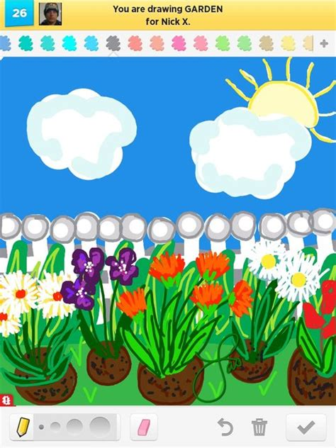 garden drawings how to draw garden in draw something
