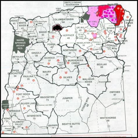 map of oregon units odfw maps jorgeroblesforcongress