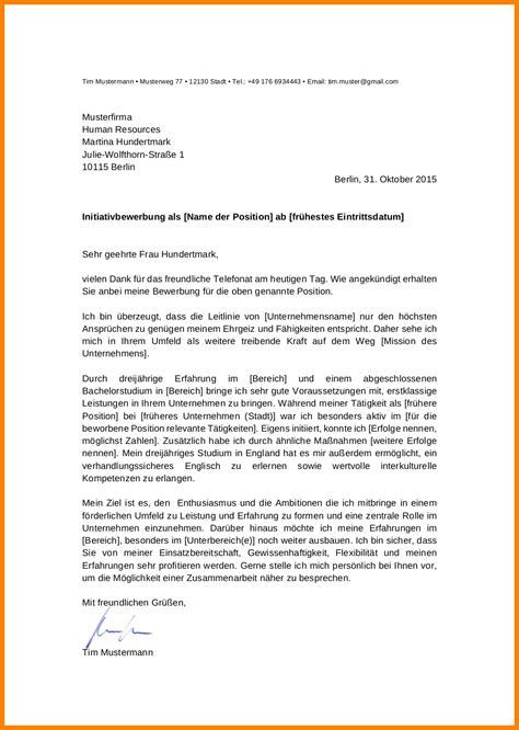 Initiativbewerbung Anschreiben by 10 Initiativbewerbung Muster Theradish Society