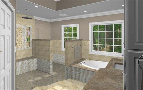 Master Bathroom Design Options   Plan 3   Design Build