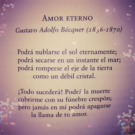 amor eterno gustavo adolfo b 233 cquer amor eterno poems poes 237 a