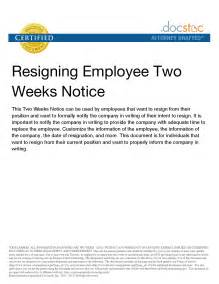10 Best Images Of Two Week Notice Sample Letter To