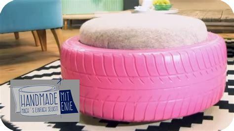Reifen Tisch Selber Bauen by Rollhocker Aus Autoreifen Handmade Mit Enie Mach S