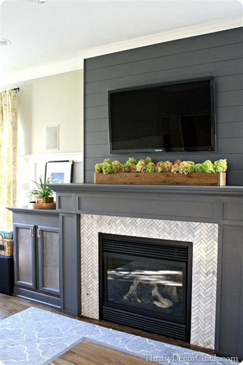 tv  mantle ideas  pinterest tv