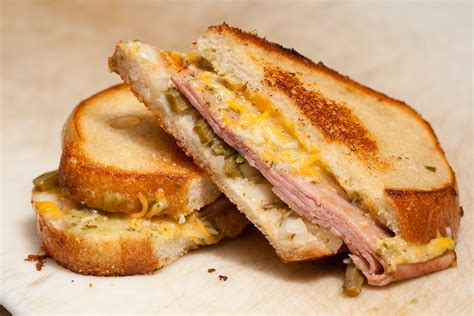 ham cheese sub sandwich grilled jam and cheese sandwich recipe dishmaps