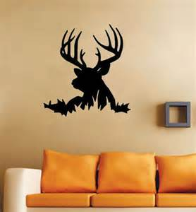 Silhouette Home Decor Deer Head Silhouette Buck Hunting Wall Decals Vinyl
