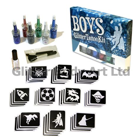 glitter tattoo kits boys glitter kit temporary store
