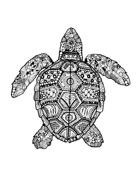 mandala coloring pages turtles turtle zentangle drawing di smondesigns su etsy 7 00