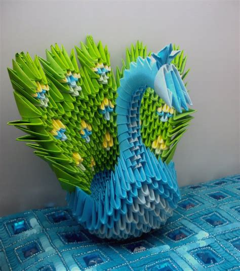 Peacock 3d Origami - peacock 3d origami by sophieekard on deviantart
