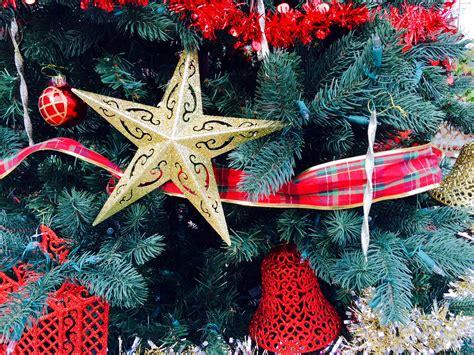 german christmas tree santa claus walks through a