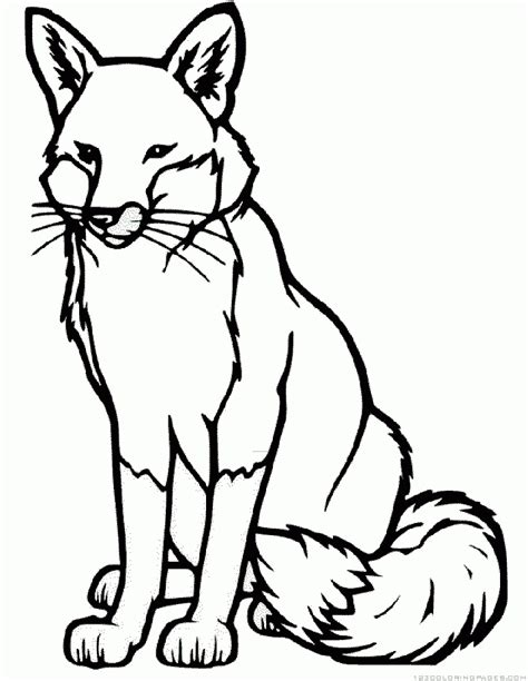 Coloring Page Fox by Fox Coloring Pages Embroidery Fox Coloring Page