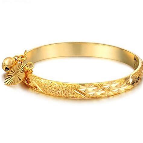 Gelang India Bangles 2015 new 18k gold plated bell bracelet children boys