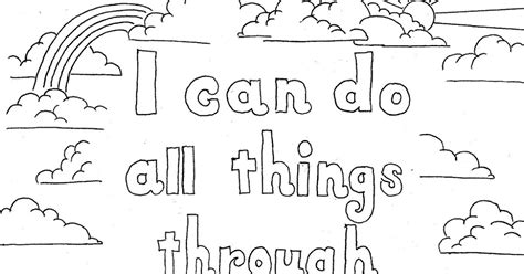 Coloring Page For Philippians 4 13 by Coloring Pages For By Mr Adron Philippians 4 13
