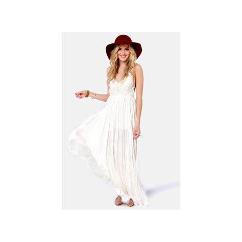 Hq 18163 Asymmetric Sleeve Dress snowy meadow crocheted ivory maxi dress polyvore