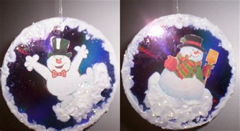 craft for christmas using old cds joyful snowman cd tree ornament