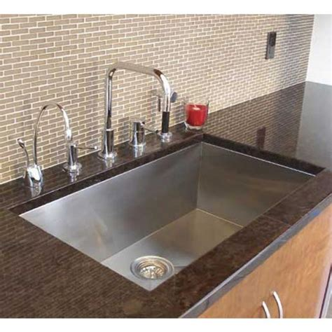 kitchen single bowl sink 36 inch stainless steel undermount single bowl kitchen sink zero radius design