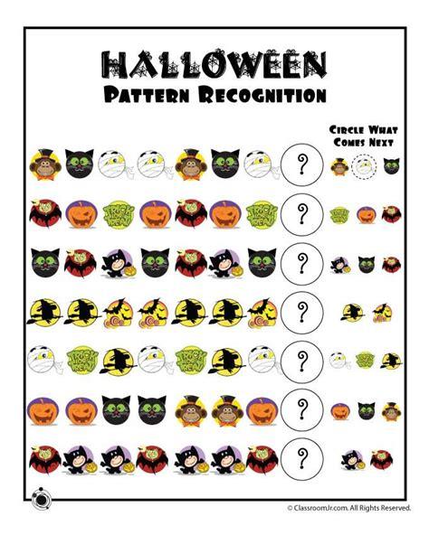 pattern recognition kindergarten activities preschool worksheets for halloween halloween pattern