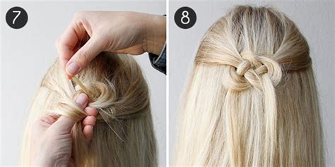 knotted half up half down hairstyles best bridal wedding half up and half down hairstyle
