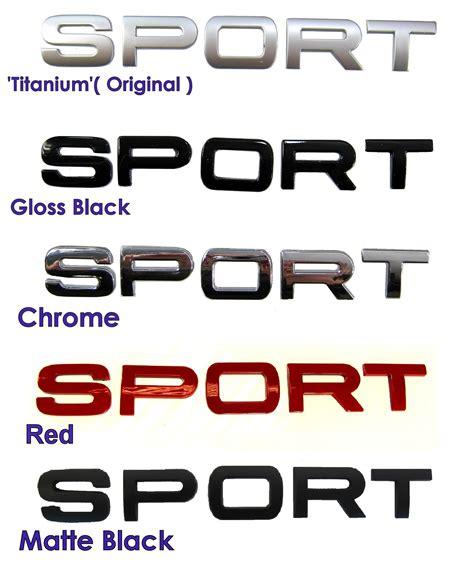 Chrome Sport Letters For Range Rover Supercharged Hst Tailgate Badge Logo Font Ebay Range Rover Sport Lettering Template
