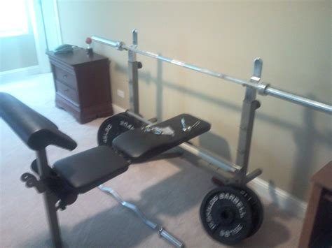 gym bench and weights for sale hodoval s garage 10 lb weights and bench
