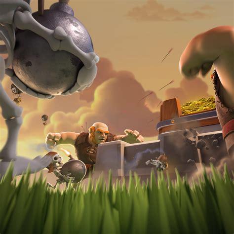 misin clash un esqueleto gigante y esqueleto con bomba en clash royale 2048x2048 fondo de pantalla 4335