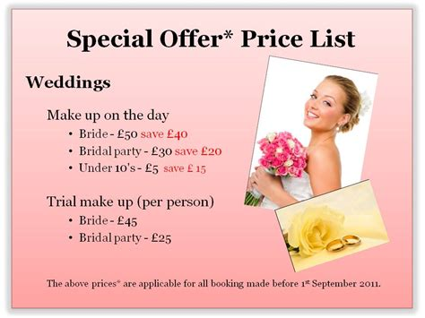 best freelance makeup artist price list for you wink and