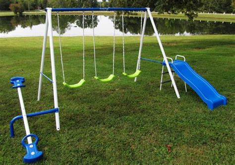 triple swing set 10 unique garden swing sets reviewed 2018 planted well