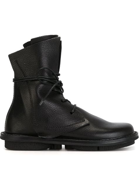 tie up boots trippen lace up boots in black lyst