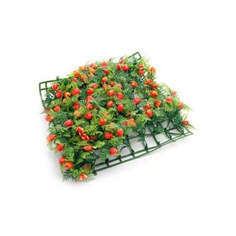 prato a tappeto tappeto erboso prato fiorito rosso 25x25cm petingros