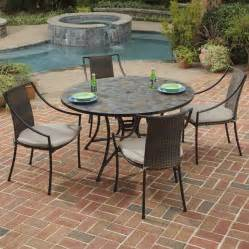 Slate Top Patio Table Shop Home Styles Harbor 5 Slate Patio Dining