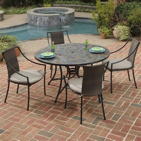 Shop Home Styles Stone Harbor 5 Piece Slate Patio Dining Slate Top Patio Table