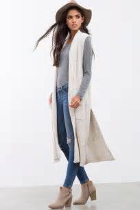 Long Drape Front Cardigan 25 Best Ideas About Sleeveless Cardigan On Pinterest