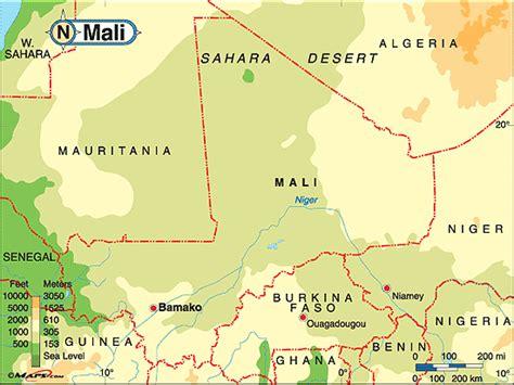 physical map of mali mrslangjahr mali behr