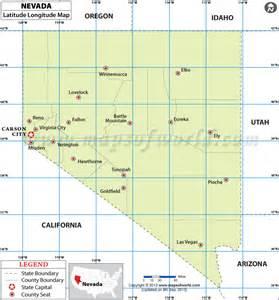 nevada latitude and longitude map