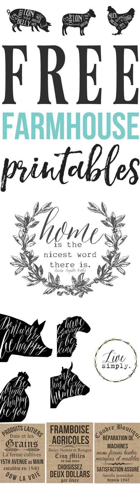 printable home decor signs free farmhouse printables for your home free french